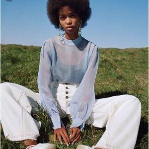 NWT Zara ice cream collection blouse Sz M